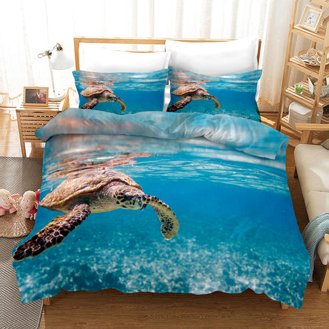 3D Sea Turtle Quilt Cover Set Bedding Set Pillowcases 108