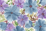 3D blue flower background wall mural wallpaper 51