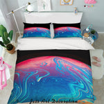 3D Blue Abstract Waves Quilt Cover Set Bedding Set Pillowcases 10