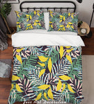 3D Green Leaves Quilt Cover Set Bedding Set Pillowcases 154