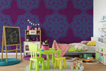 3D Purple Medallion Wall Mural Wallpaper 60