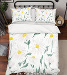 3D White Flowers Pattern Quilt Cover Set Bedding Set Pillowcases  78