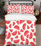 3D Red Watermelon Pattern Quilt Cover Set Bedding Set Pillowcases  36