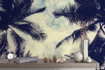 3D coconut tree sky wall mural wallpaper 111