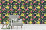 3D Hand Sketching Floral Green Leaves Plant Wall Mural Wallpaper LXL 1377