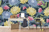 3D colorful chrysanthemum background wall mural wallpaper 34