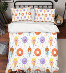 3D Color Food Pattern Quilt Cover Set Bedding Set Pillowcases  30