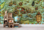 3D Vintage Navigation Map Wall Mural Wallpaper 35