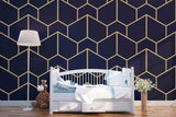 3D Black Background Geometry Wall Mural Wallpaper 8