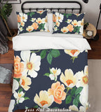 3D Yellow Flowers Quilt Cover Set Bedding Set Pillowcases 140