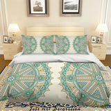 3D Abstract Green Floral Pattern Quilt Cover Set Bedding Set Duvet Cover Pillowcases 84