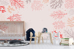 3D Cartoon Hand Drawn Coral Background Wall Mural Wallpaper WJ 3111