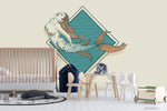 3D Hand Drawn Mermaid Background Wall Mural Wallpaper WJ 3112