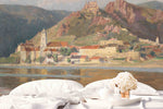 3D Mountains Villages Northern Europe Oil Painting Wall Mural Wallpaper 19