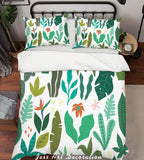 3D Green Floral Leaves Quilt Cover Set Bedding Set Pillowcases 41