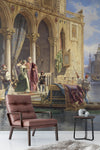 3D court oil painting wall mural wallpaper 92