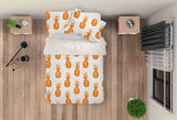 3D Yellow Pineapple Quilt Cover Set Bedding Set Pillowcases 69