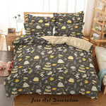3D Hand Drawn Birthday Party Quilt Cover Set Bedding Set Duvet Cover Pillowcases 14