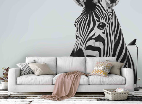 3D Zebra Pattern Wall Mural Wallpaper 79