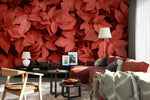 3D red leaves wall mural wallpaper 26