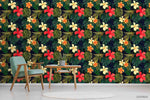 3D Hand Sketching Floral Green Leaves Plant Wall Mural Wallpaper LXL 1344