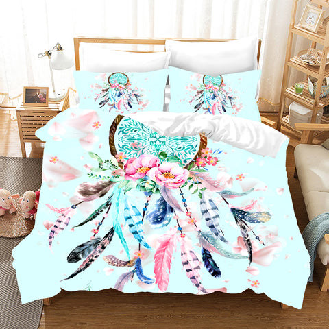 3D Dream Catcher Quilt Cover Set Bedding Set Pillowcases 08