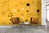 3D pentagram star wall mural wallpaper 70
