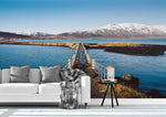 3D Snow Mountain Lake Wall Mural Wallpaper 52