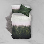 3D Green Pine Forest Quilt Cover Set Bedding Set Pillowcases 90