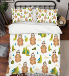 3D Cartoon Animals Quilt Cover Set Bedding Set Pillowcases  6