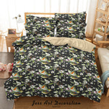 3D Watercolor Floral Bird Quilt Cover Set Bedding Set Duvet Cover Pillowcases 55
