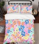 3D Colored Abstract Flowers Quilt Cover Set Bedding Set Pillowcases  7