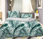 3D Green Leaves Quilt Cover Set Bedding Set Pillowcases 29