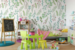 3D Green Leaves Wall Mural Wallpaper 83