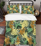 3D Yellow Leaves Quilt Cover Set Bedding Set Pillowcases 149