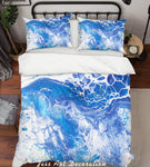 3D Blue Abstract Sea Pattern Quilt Cover Set Bedding Set Pillowcases 42