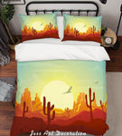 3D Desert Landscape Quilt Cover Set Bedding Set Pillowcases 252