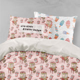 3D Pink Popcorn Machine Quilt Cover Set Bedding Set Pillowcases 42