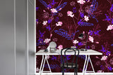 3D Floral Branch Leaves Wall Mural Wallpaper 53