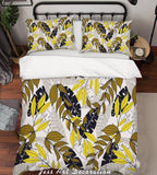3D Yellow Leaves Quilt Cover Set Bedding Set Pillowcases 155