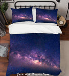 3D Purple Sky Quilt Cover Set Bedding Set Pillowcases 130