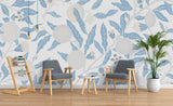 3D Hand Painted Grey Flower Leaves Wall Mural Wallpaper A140 LQH