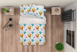 3D Hot Air Balloon Clouds Quilt Cover Set Bedding Set Pillowcases 54