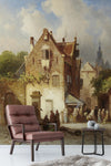 3D nordic rural oil painting wall mural wallpaper 102