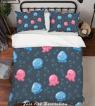 3D Colorful Marine Animal Pattern Quilt Cover Set Bedding Set Pillowcases  22