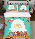 3D Cartoon House Quilt Cover Set Bedding Set Pillowcases 11