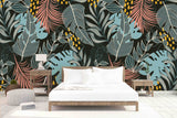 3D Tropical Palm Leaves Wall Mural Wallpaper 32