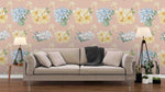 3D yellow flowers wall mural wallpaper 18