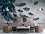 3D Modern Peacock Feather Wall Murals 220 - Jessartdecoration