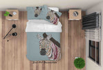 3D Indian Decoration Zebra Quilt Cover Set Bedding Set Duvet Cover Pillowcases LXL 84